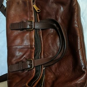Fossil Large Bag Rich Brown